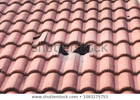 closeup of vintage tile roof stock photo © klinker