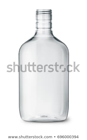 empty glass bottle isolated transparent flask on white backgrou stock photo © maryvalery