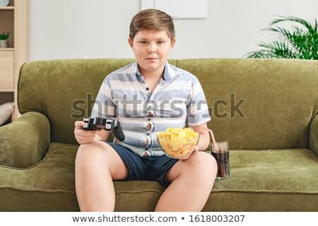 overweight boy Stock photo © adrenalina
