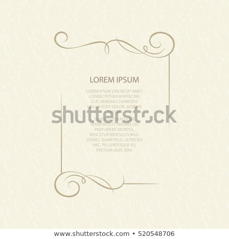 vintage calligraphic square frame decorative floral border element flourish stock photo © loud-mango