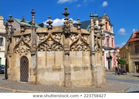 Stone Fountain, Kutna Hora, Czech Republic Stock photo © phbcz