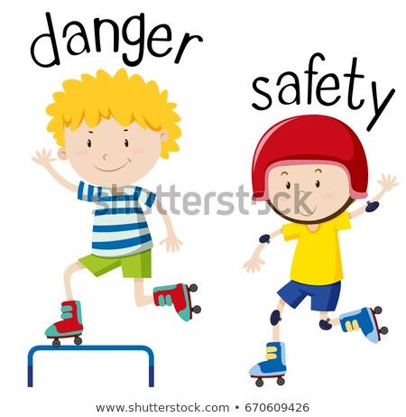 Oposto perigo segurança ilustração criança fundo Foto stock © bluering