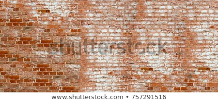Brick wall surface with grunge paint brush strokes Stock photo © stevanovicigor