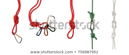 Security on Green Carabine with Red Ropes. Stock photo © tashatuvango