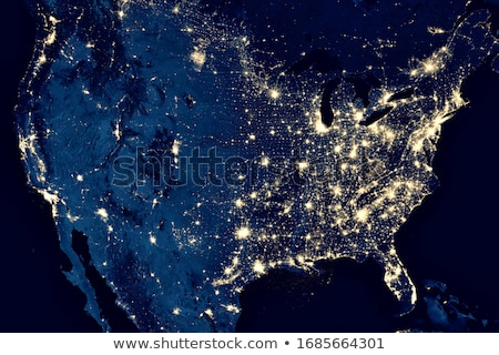 usa city lights map stock photo © ixstudio