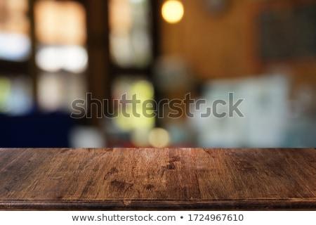 Vintage filter, blurry background, modern kitchen Stock photo © artjazz