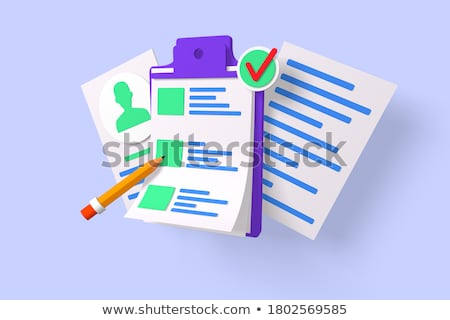 Clipboard with Account. 3D. Stock photo © tashatuvango