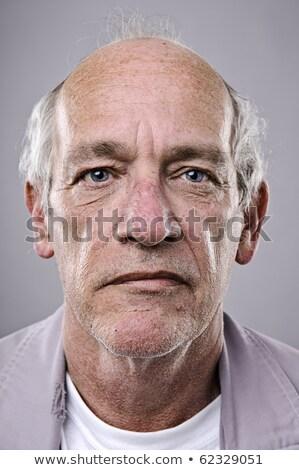 łysy · człowiek · widok · z · boku · młody · człowiek · garnitur - zdjęcia stock © filipw