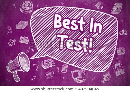 best in test   doodle illustration on purple chalkboard stock photo © tashatuvango
