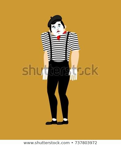 Mime sad. pantomime sorrowful. mimic sorry. Vector illustration Stock photo © popaukropa