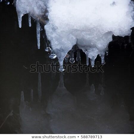 Piccolo acqua perfetto riflessione neve inverno Foto d'archivio © Juhku