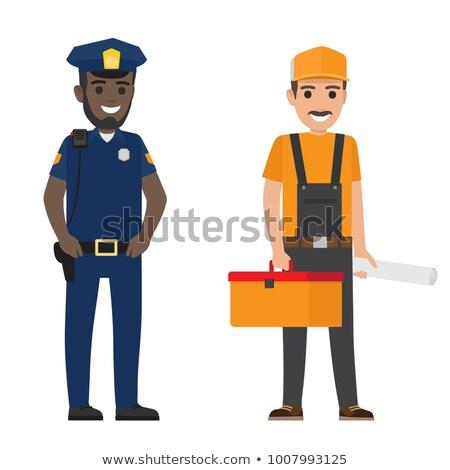полицейский · работу · прав · службе · человек · профессиональных - Сток-фото © robuart