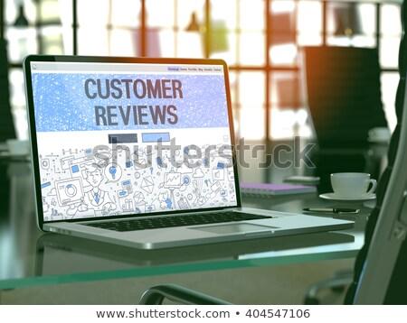 Laptop Screen with Customer Reviews Concept. 3D. Stock photo © tashatuvango