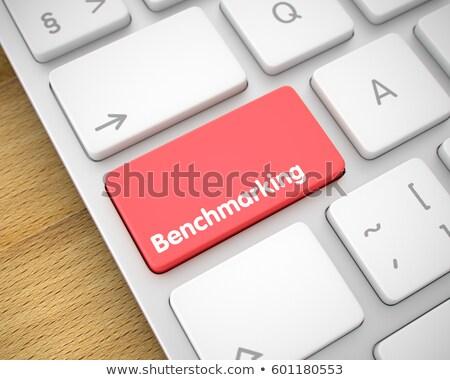 Piac kutatás felirat piros billentyűzet numerikus billentyűzet Stock fotó © tashatuvango