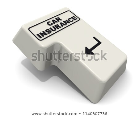 Car Insurance - Message on White Keyboard Button. 3D. Stock photo © tashatuvango