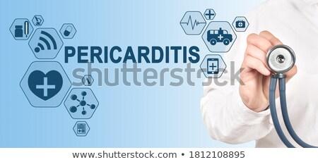 Pericarditis Diagnosis. Medical Concept.  Stock photo © tashatuvango