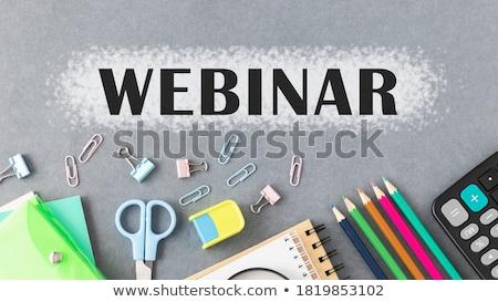 seminar handwritten by white chalk on a blackboard stock photo © tashatuvango