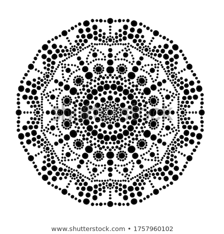 mandala vector dot painting style aboriginal folk art australian black traditional ethnic design stock photo © redkoala