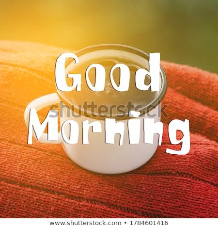 Stock fotó: Jó · boldog · fiatal · nő · megnyugtató · reggel · nő