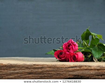 Rojo blanco aumentó hermosa ramo rosas Foto stock © StephanieFrey