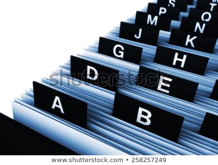 folder index financial documents 3d rendering stock photo © tashatuvango