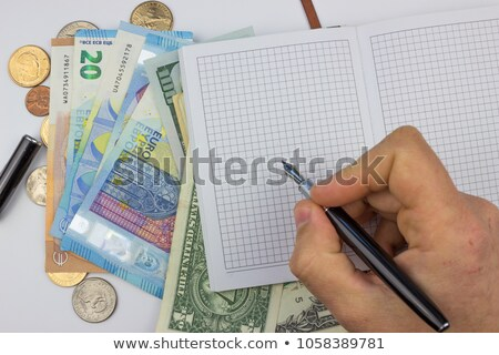 Financial Advisor, Business Tax Planning Over White Background Stock photo © olivier_le_moal