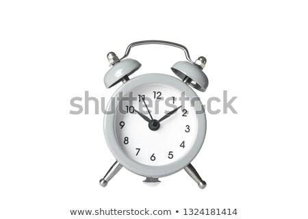 抽象的な · 目覚まし時計 · 孤立した · 白 · 3D · レンダリング - ストックフォト © nobilior
