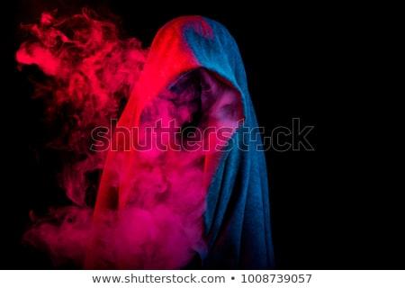 Silueta oculto colorido humo misterioso oscuro Foto stock © arts