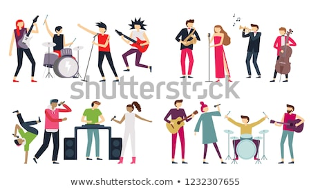 Guitarist and drummer performing Stock photo © IS2