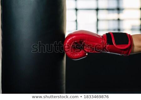 Side view of boxer hitting straight Stock photo © wavebreak_media