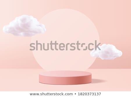 3D podium pastel studio montrent galerie Photo stock © SArts