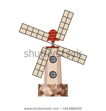 Ancient wooden windmill building isolated icon Stock photo © studioworkstock