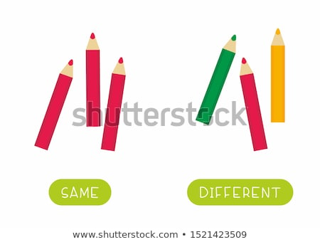 Opposite words for same and different Stock photo © bluering