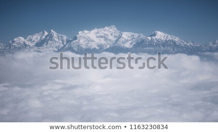 The Himalayas as seen from an airplane, Nepal Stock photo © dutourdumonde