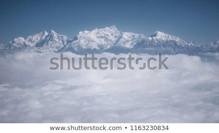 himalayalar · uçak · Nepal · katman · bulutlar · dağ - stok fotoğraf © dutourdumonde