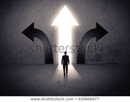 право выбора мистик луговой закрыто дверей Сток-фото © psychoshadow