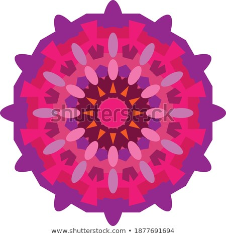 Stock photo: Logo flower geometric shape. Circular pattern. Unique ornamental design element.