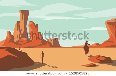 Vector Cowboy Concept with Saddle Stock photo © dashadima
