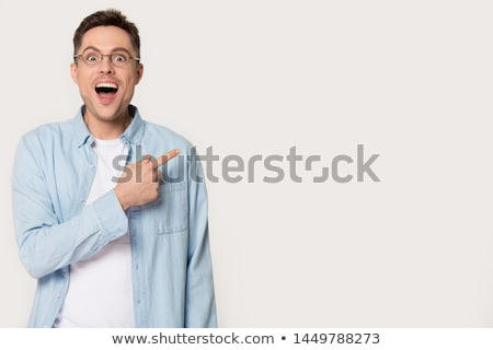 portrait of surprised businessman with eyeglasses  Stock photo © feedough