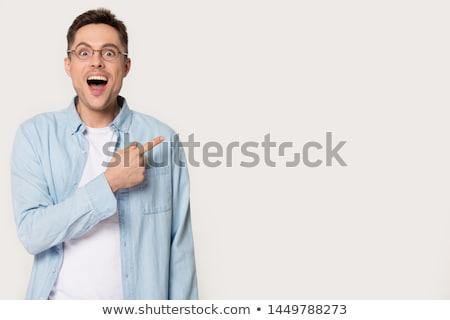 portrait of surprised businessman with eyeglasses stock photo © feedough