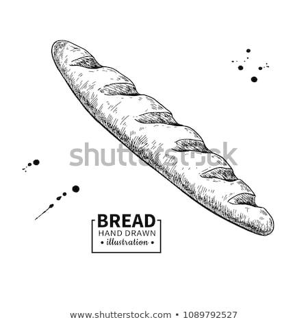 Francia francia kenyér kézzel rajzolt rajz ikon skicc Stock fotó © RAStudio