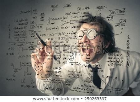 Louco cientista óculos ciência engraçado lab Foto stock © milsiart