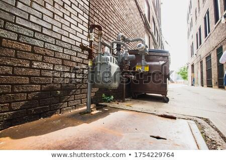 Bruk ściany niebieski cień odkryty Zdjęcia stock © IS2