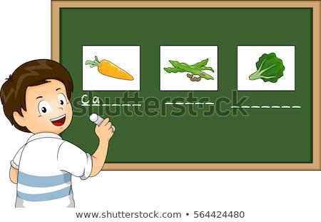 Stockfoto: Ongen · Die · Naam · In · Primaire · Klasse · leert · schrijven