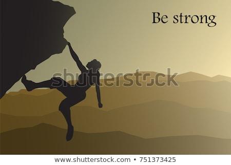 girl free climber Stock photo © adrenalina