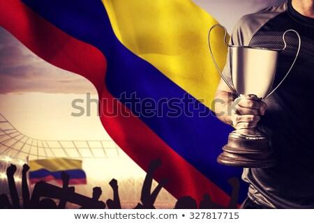 Futbolista digitalmente generado Colombia bandera hierba Foto stock © wavebreak_media