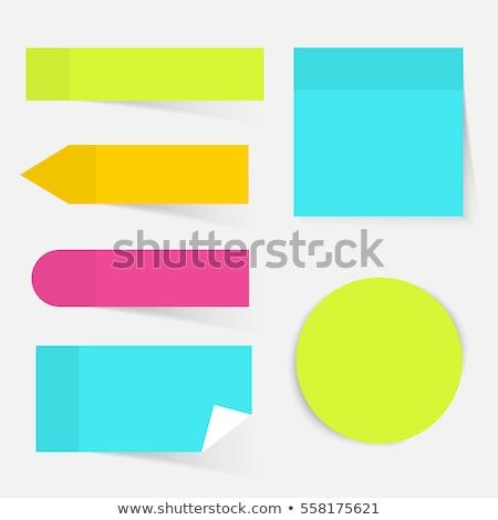 blue sticker   postit stock photo © lemony