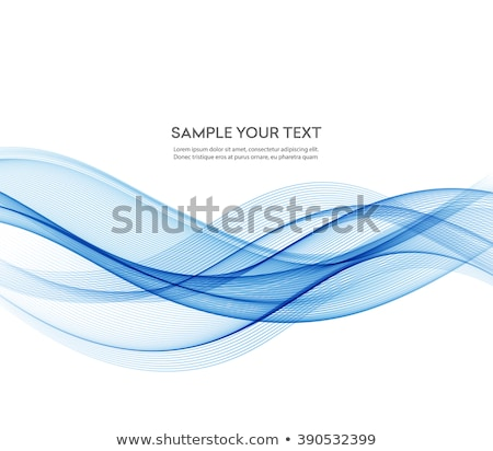 abstract blue smooth wave design stock photo © sarts