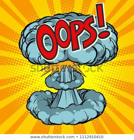 Oops surpresa nuclear explosão desenho animado Foto stock © rogistok