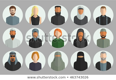 muslim arab people avatars characters icons set in flat style is stock photo © nikodzhi